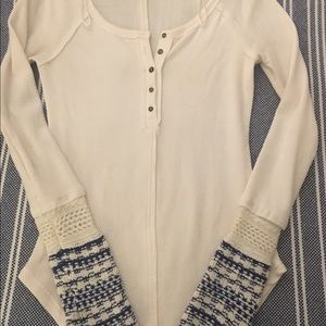 Free People Alpine Knit Thermal Top